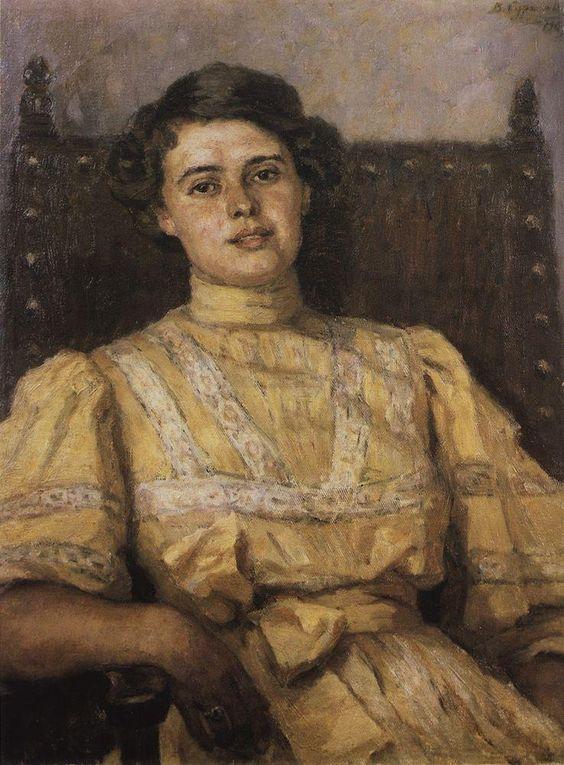 Portrait of E. N. Sabashnikova, 1907  Vasily Surikov: