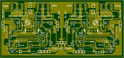 Layout Pcb Power Stereo 2x 75 Watt Ocl Speaker Jenis Audio