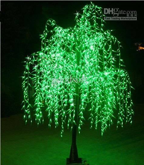 Outdoor Light Trees Christmas: LED Tree Lights Outdoor Decor Christmas Light Party Wedding Led Artificial  Tree 2.5M Green Willow Lights | Trees, Christmas trees and Photos,Lighting