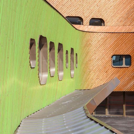 Façade Architecte Paul Le Quernec Ecole Niki de Saint Phalle