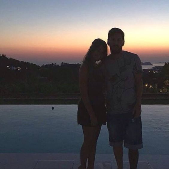 Anto and leo messo on ibiza Anto posted thos photo on her instagram