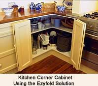 Kitchen Cabinet Accessories Blind Corner ezyfold bi-fold door hardware for blind corner cabinet.   home
