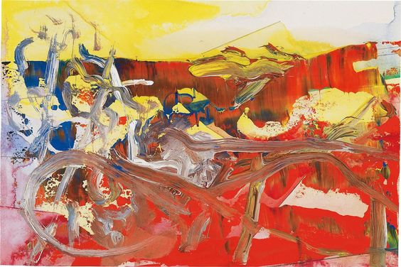 Gerhard Richter (German, b. 1932), 8.12.85, 1985. Oil and watercolour on paper