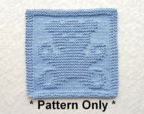 Knitted Baby Washcloths Free Patterns : TEDDY BEAR Knit Pattern - PDF Instant Download - Easy Knit Pattern / Knit Dis...