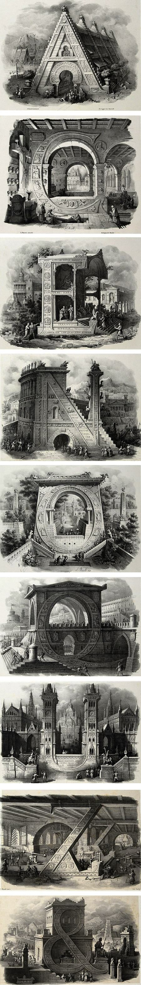 Architectural Letters: Alphabet, Letters And Architecture On Pinterest