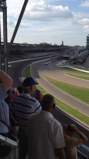 View of the Nationwide Race at Indy Speedway