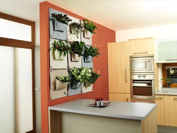 The Green Pockets AMMA 1 - A12, Grey, Vertical Garden, Indoor/Outdoor (works indoors and outdoors) Living Wall Planter Vertical Garden, Hanging Wall Planter: Amazon.co.uk: Garden & Outdoors
