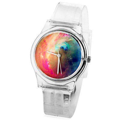 Llévalo por solo $12,500.Las mujeres del reloj de la manera con la pintura al óleo de exhibición analógica dial redondo reloj de goma de la banda.