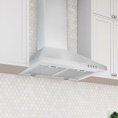 Ancona 24 Wpp424 450 Cfm Convertible Wall Mount Range Hood Wall Mount Range Hood Kitchen Bath Collection Wall Mount