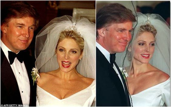 wedding of donald trump and his second wife marla maples