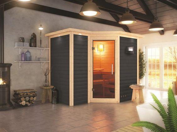 Qualität trift auf Design: Die Karibu Sauna Innenkabine von der Gartenhaus GmbH.