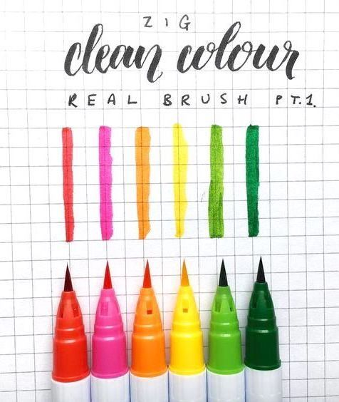 Kuretake Zig Clean Color Real Brush Pen Swatches By Boy Study