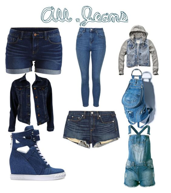 """""""Denim/Jean style"""" by ceci-fgymnast ❤ liked on Polyvore featuring VILA, Topshop, Abercrombie & Fitch, MiH Jeans, rag & bone/JEAN, Casadei and Sally&Circle"""