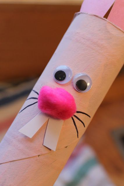 bunny rabbit cardboard tube craft - so simple!