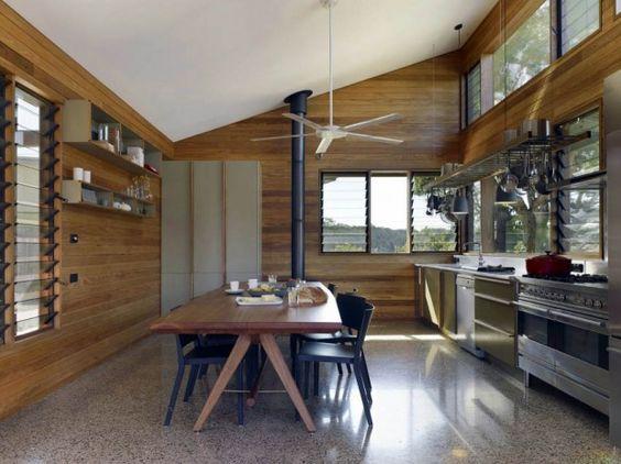 ห้องครัวพื้นหินอ่อน
