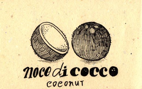 Learning Italian Language ~ Noce di cocco (coconut) IFHN