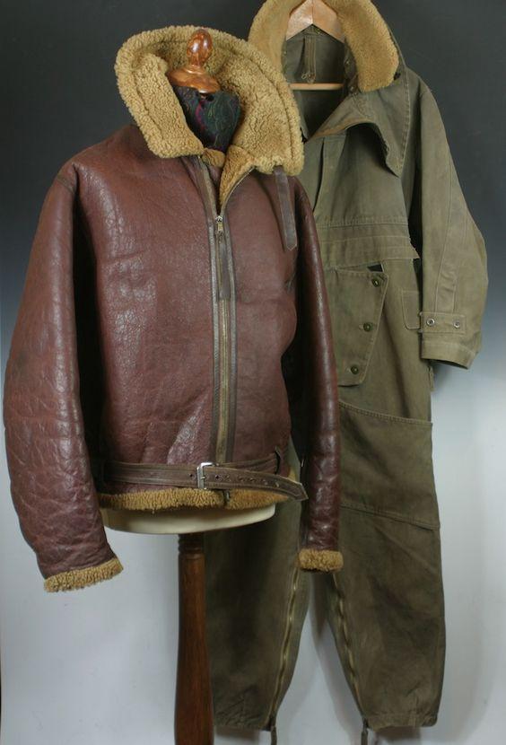Wellington Bomber Gunner Irvin Flying Jacket &amp Sidcot Flying Suit