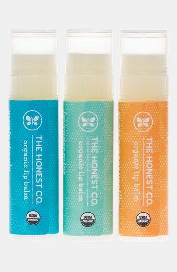 Honest Company organic lip blam trio