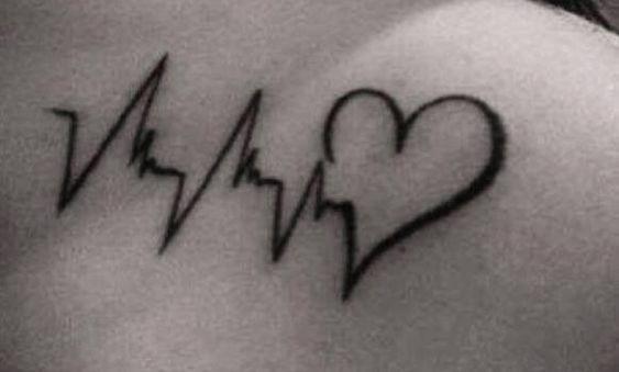 Tatuajes de latidos de corazón, un sencillo y elegante tattoo - http://www.tatuantes.com/tatuajes-de-latidos-de-corazon/ #tattoo: