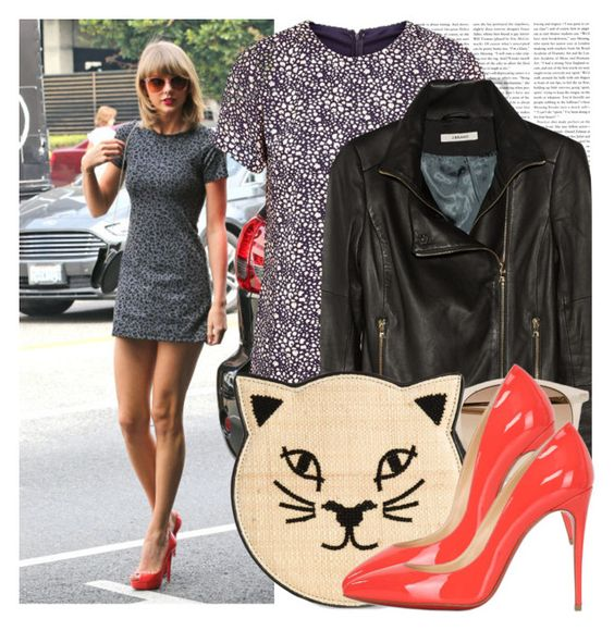 """""""Dress like Taylor Swift"""" by megi32 ❤ liked on Polyvore featuring Poppy Lux, J Brand, Witchery, Charlotte Olympia and Christian Louboutin"""