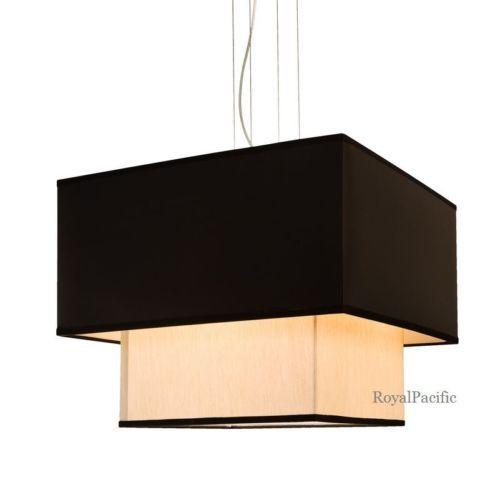 4 lamp 2 tier 20 square drum shade chandelier pendant lighting fixture black chandeliers drum pendant lighting decorating