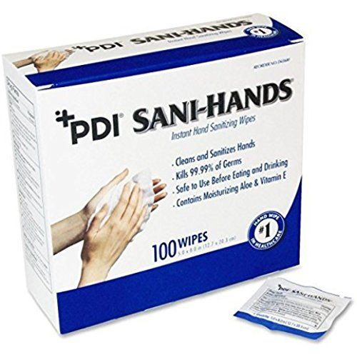 Sani Hands Hand Sanitizer Wipes 100 Packets Per Box By Sani Hands