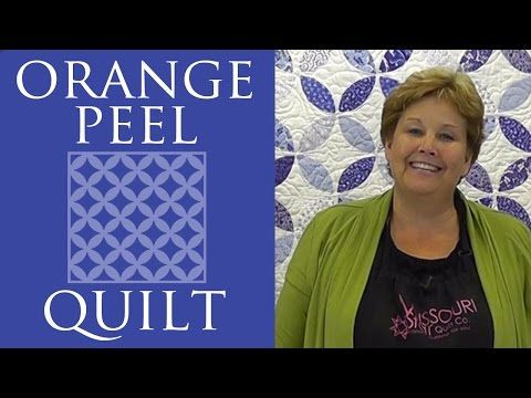 "LOVE THIS! he Orange Peel Quilt: Easy Quilting Tutorial with Jenny Doan of Missouri Star Quilt Co. Jenny demonstrates how to make an impressive looking Orange Peel Quilt using a simple interfacing technique and 5"" squares of precut fabric."