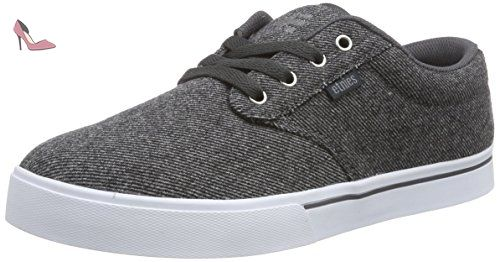 Etnies Scout Yb W's, Chaussures de Skateboard Femme, Noir (Black/Green/White), 37 EU (4 UK)