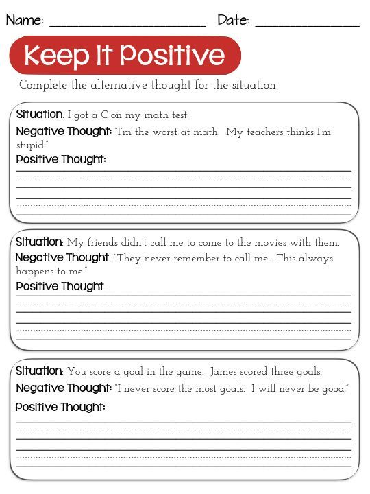 Worksheets Thought Stopping Worksheets crafts thoughts and love art on pinterest changing negative worksheets