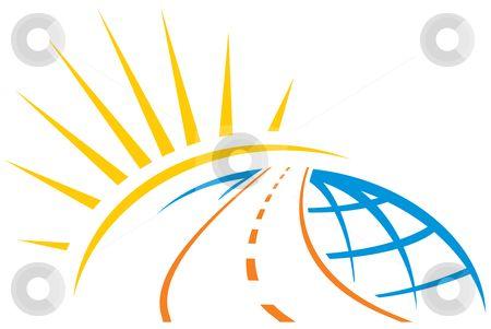 Road across world stock vector