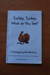 turkey turkey what do you see? printable book
