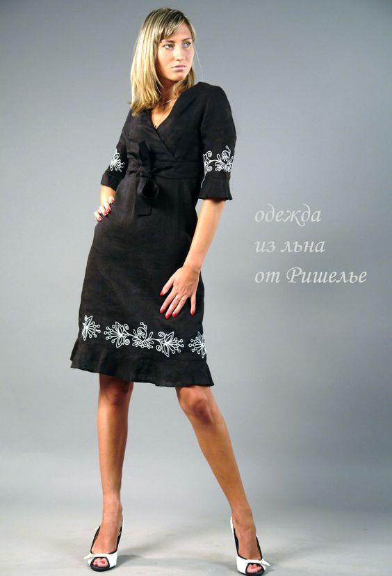 одежда из льна фото для женщин