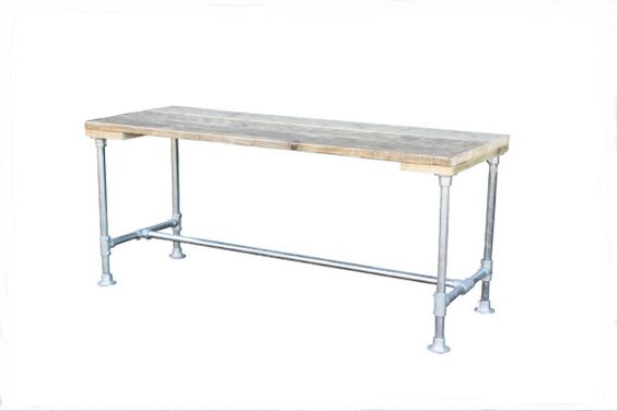 Industrial Dining table in reclaimed wood by SalvationFurniture