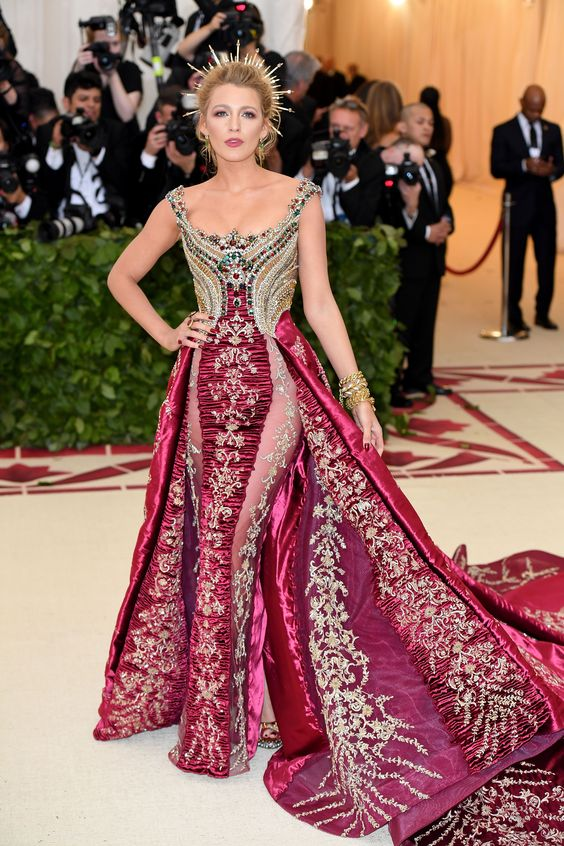 Holy Chic! The Most Divine Looks From The Met Gala Red Carpet #refinery29 https://www.refinery29.com/2018/05/198434/met-gala-best-dressed-2018-red-carpet#slide-29