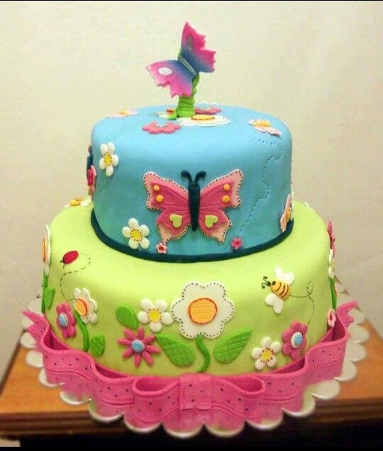 Astonishing A Bright And Beautiful Butterfly Cake For Your One Year Olds Personalised Birthday Cards Beptaeletsinfo