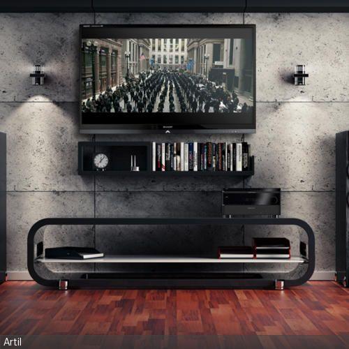 betonoptik platten tvs w nde und modern. Black Bedroom Furniture Sets. Home Design Ideas