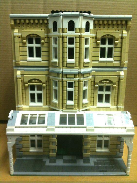 Custom Lego City Modular Building Instructions Lego Pinterest