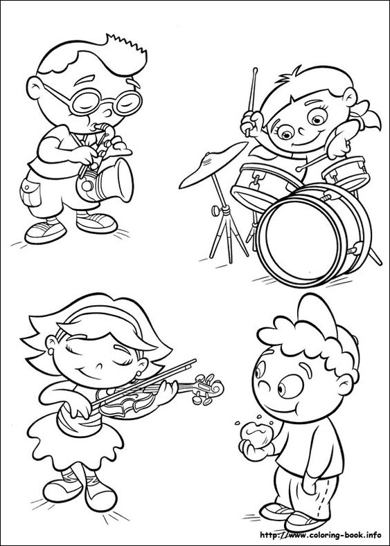 Little Einsteins coloring picture