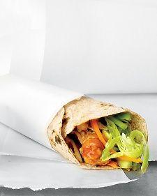 Buffalo Chicken Wrap http://www.marthastewart.com/342377/buffalo-chicken-wrap?czone=food%2Flunch-recipes%2Fsandwich-recipes&gallery=853547&slide=342377&center=856055