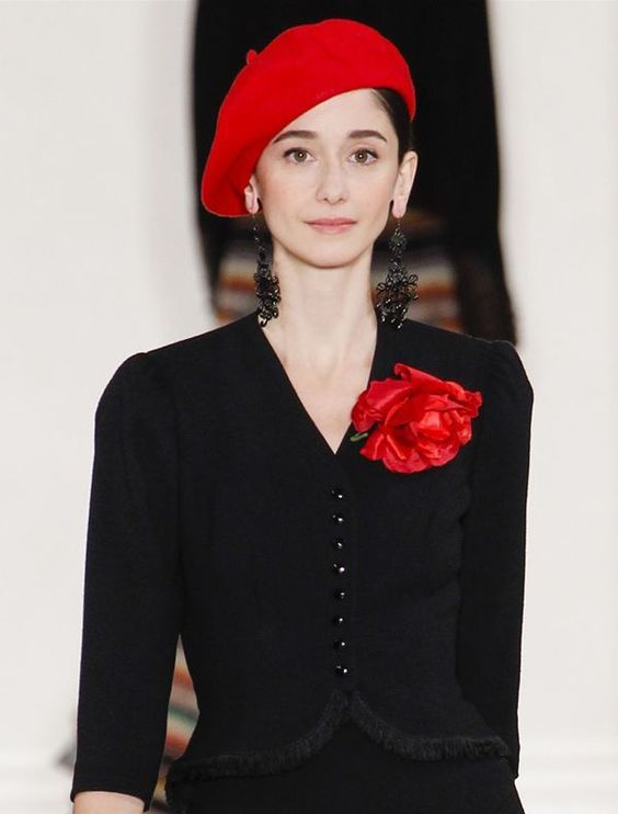 red beret worn sideways