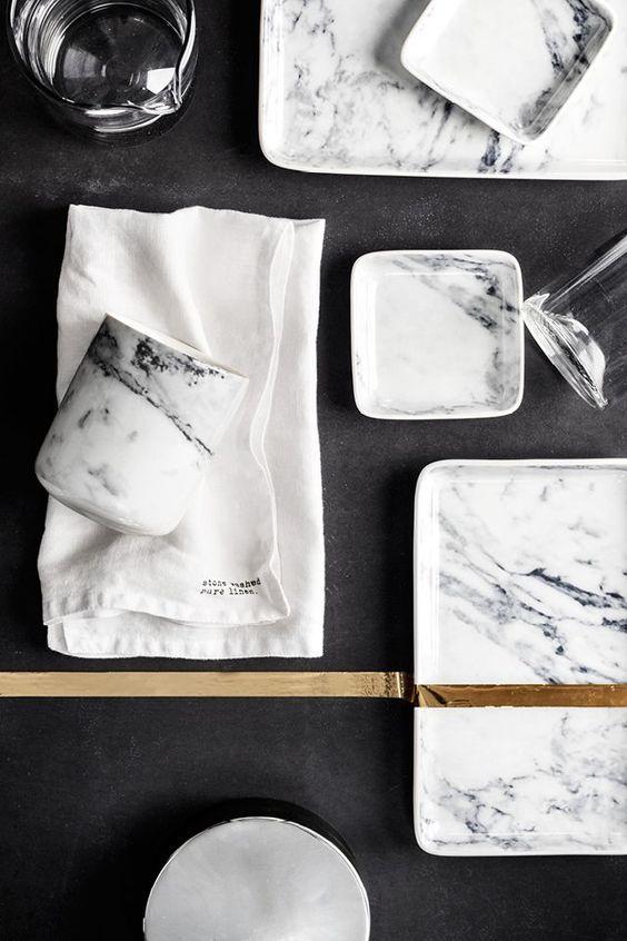 Home Stuff in Marble, See more inspirations at http://www.brabbu.com/en/inspiration-and-ideas/ #LivingRoomFurniture, #ModernHomeDécor, #MarbleDécorIdeas