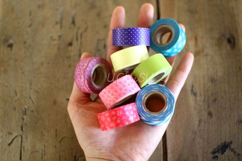 Mini Size Washi Tape 8 Roll Set {Vivid}