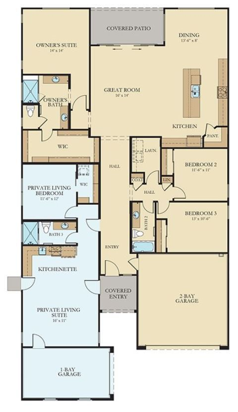 Drum Roll Please Introducing A Brand New Nextgen Floor Plan To The Lennar Family Of Home Withi New House Plans Multigenerational House Plans House Plans