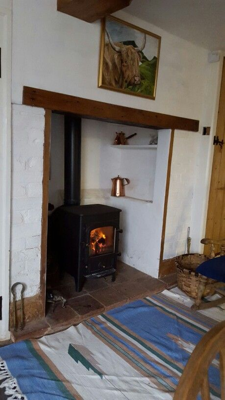 Kitchen fireplace in old cottage