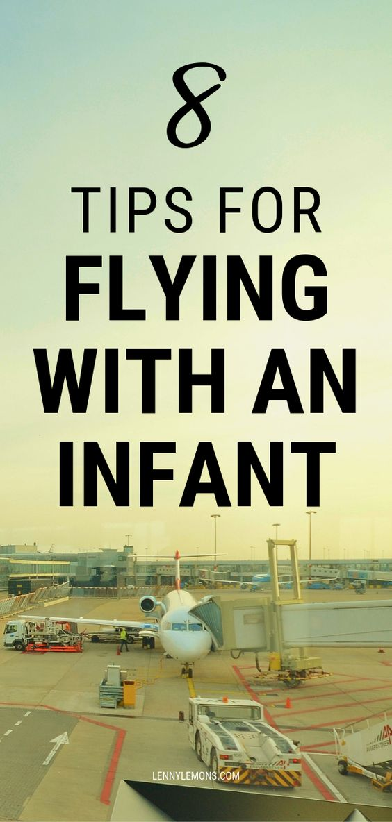 airport image with 8 tips for flying with an infant