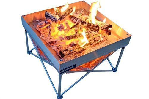 Fireside Outdoor Cb001 Pop Up Pit And Heat Shield Combo Fire Pit Heat Shield Portable Fire Pits Fire Pit Stand