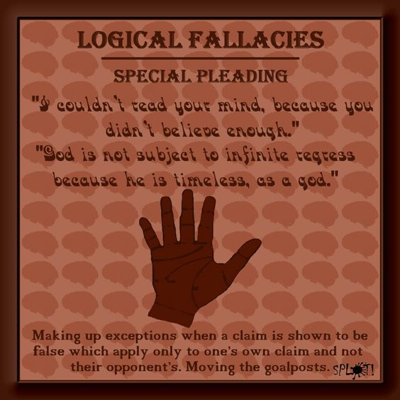 special pleading logical fallacy definition and examples logic  special pleading logical fallacy definition and examples logic and critical thinking critical thinking and homeschool