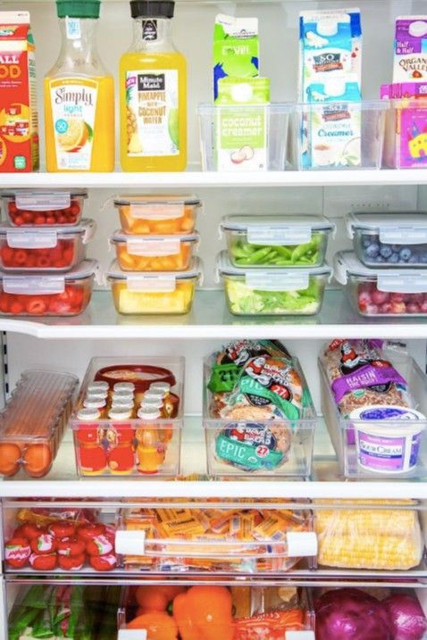 Organized Fridges Are Not Just For Instagram Moms Amazon Makes It Supereasy With These 6 Bins Fridge Organization Refrigerator Organization Healthy Fridge