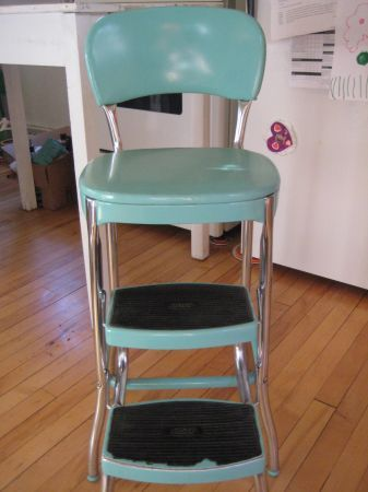 Vintage Turquoise Aqua Cosco Step Stool 80 Best Offer