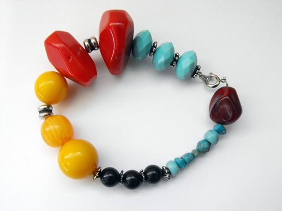 Summer Fruit Punch Chunky Bracelet $15.00
